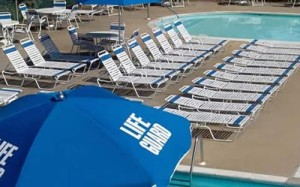 pool side chaises